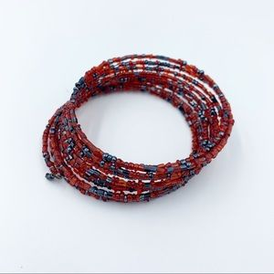 Beaded Spiral Bangle